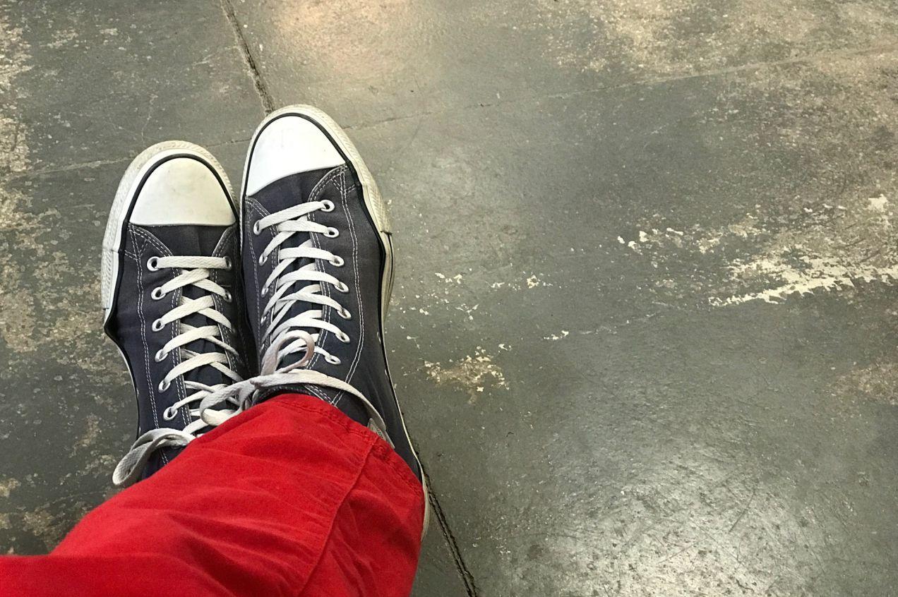 teraz robię w butach